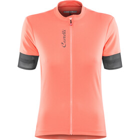 Castelli Anima 2 FZ Jersey Women salmon/dark/steel blue